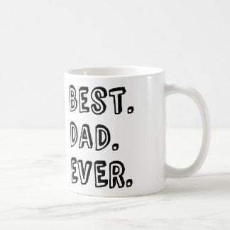 Mug La meilleure conception des textes de papa jamais