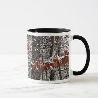 Mug La neige a couvert la photographie de nature