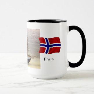 """Mug La Norvège, modèle du bateau """"Fram """" de Nansen"""