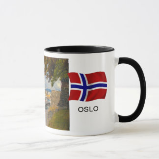 Mug La Norvège, port d'Oslo ; port