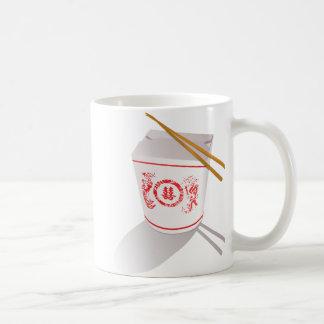 Mug La nourriture chinoise sortent des baguettes de