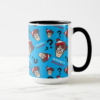Mug Là où est Waldo bleu modelez