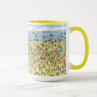 Mug Là où est Waldo sur la plage