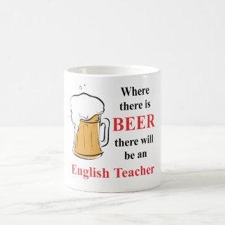 Mug Là où il y a bière - professeur d'Anglais