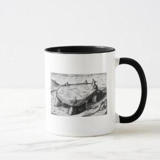 Mug La pierre soulevée, illustration de