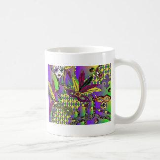 Mug La plume psychédélique de mardi gras masque