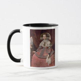 Mug La Reine Maria Anna de l'Espagne dans une robe