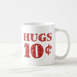 Mug La Saint-Valentin étreint 10 cents