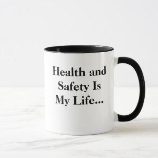 Mug La santé et sécurité est ma vie - RECULEZ !