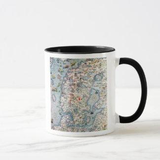 Mug La Scandinavie, détail de la marina de Carta