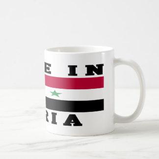 Mug La Syrie a fait dans les conceptions