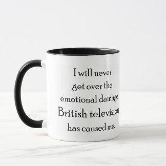Mug La télévision britannique m'a avec émotion