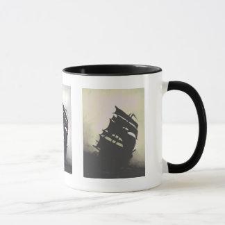 Mug la tempête embarque peint à la main