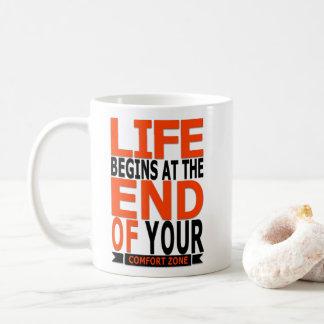 Mug La vie commence à la fin de votre zone de confort
