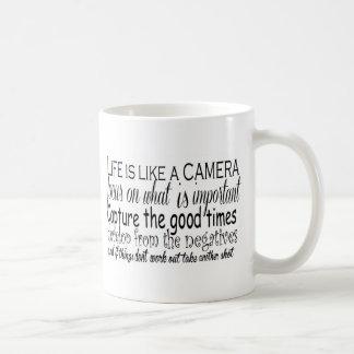 Mug La vie est comme un appareil-photo