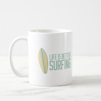 Mug La vie est meilleur surfer !