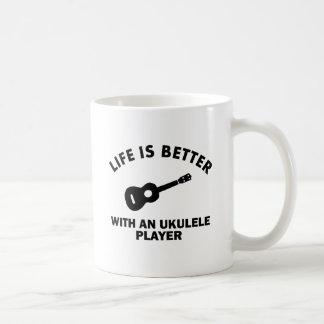 Mug La vie est meilleure avec des joueurs d'ukulélé