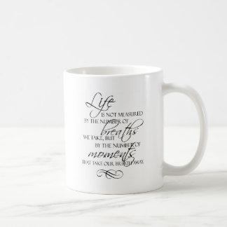 Mug La vie n'est pas mesurée par les souffles que nous