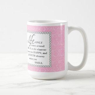 Mug La vie rose de scintillement vient seulement