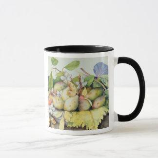 Mug La vie toujours avec des prunes, des noix et le