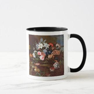 Mug La vie toujours des fleurs dans un panier