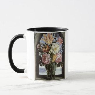 Mug La vie toujours des fleurs dans un verre de