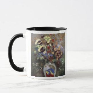 Mug La vie toujours d'un vase de fleurs (en pastel sur