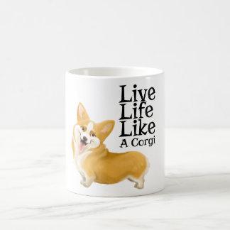 Mug La vie vivante aiment le corgi
