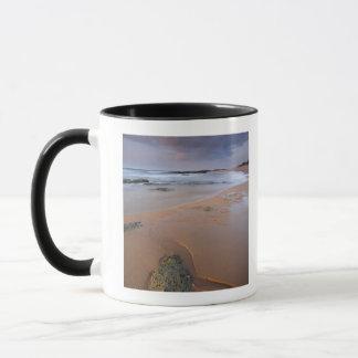 Mug La vue courbe du rivage bascule à l'aube et