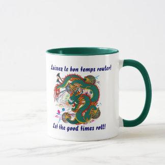 Mug La vue de dragon de mardi gras note svp