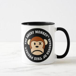 Mug Label : Projet approuvé par le singe fâché