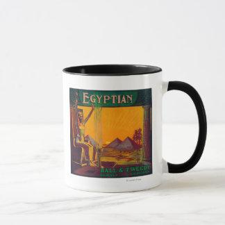 Mug LabelDowney orange égyptien, CA