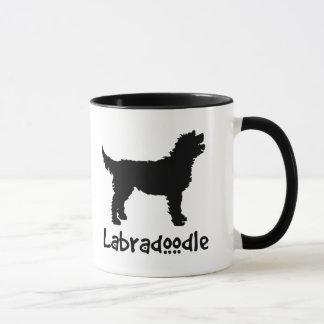 Mug Labradoodle avec le texte frais (dans le noir)