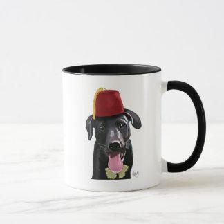 Mug Labrador noir avec Fez
