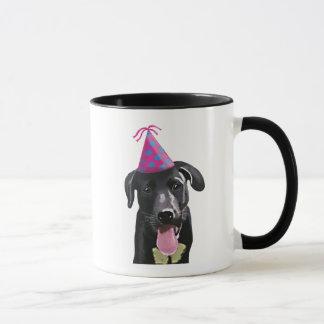 Mug Labrador noir avec le casquette de partie