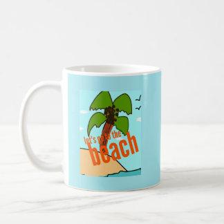 Mug laisse aller à la plage