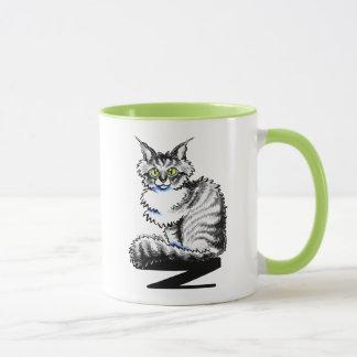 Mug -Laisse Art™ de chat tigré de ragondin du Maine
