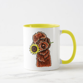 Mug -Laisse ensoleillée Art™ de Labradoodle de