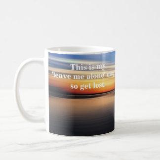 "Mug ""Laissez-moi le seul"" paysage marin"