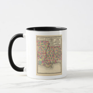 Mug L'Alabama, l'Arkansas, la Louisiane, et le