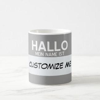 Mug L'Allemand bonjour mon nom est… personnalisable