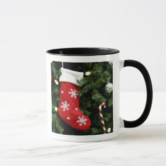 Mug L'Amérique du Nord. Décorations de Noël sur