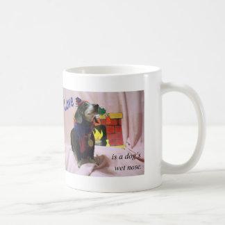 Mug L'amour est le nez humide d'un chien