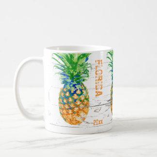 Mug L'ananas contemporain ajoutent la date et