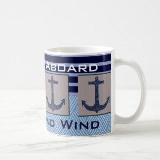 Mug L'ancre et les rayures nautiques du bateau votre