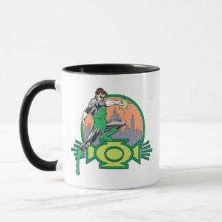 Mug Lanterne et paysage urbain verts