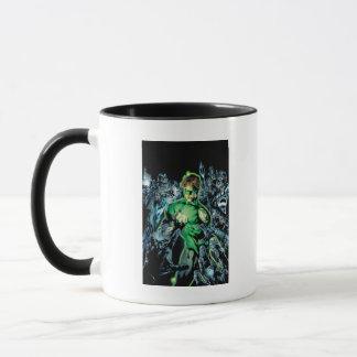 Mug Lanterne verte entourée - couleur
