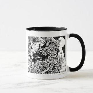 Mug Lanterne verte et la lune - noire et blanche