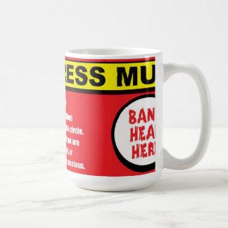 Mug L'anti chef de coup de kit d'effort ici attaquent