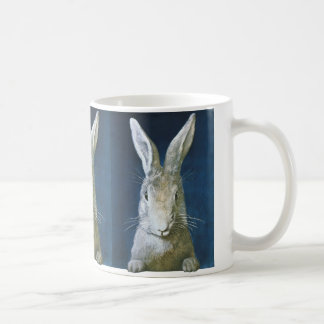 Mug Lapin de Pâques vintage, lapin blanc velu mignon